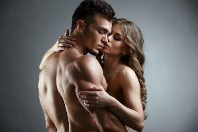 Obraz Erotika. Embrace atraktivní nahá pár