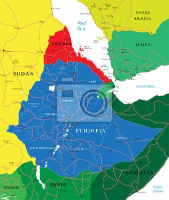 Etiopie mapa