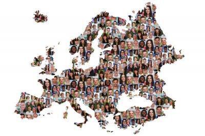 Obraz Europa Karte Menschen junge Leute Gruppe Integrace multikultur