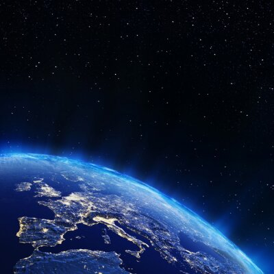 Obraz Evropa světla města