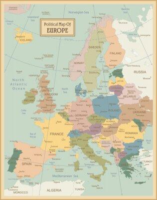 Obraz Evropa-vysoce detailní map.Layers používané.