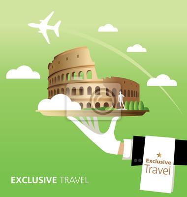 Obraz Exkluzivní, Colosseum, Itálie, Řím, Cestování, typografie