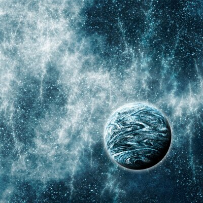Obraz Extrasolární planeta v Warped prostor a čas kraje
