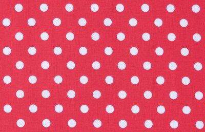 Obraz Fabric Červená Bílá texturu dot pattern