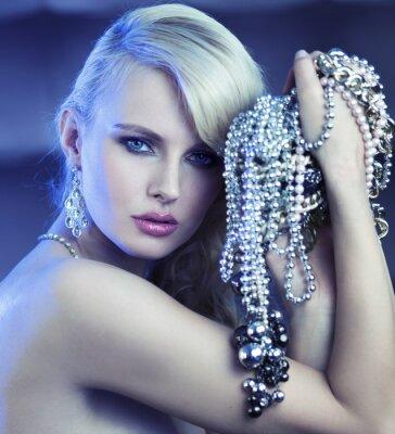 Obraz Fabulous žena s kyticí jewelary