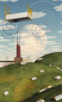 Obraz Fantasy Krajina