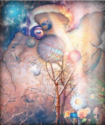 Obraz Fantasy krajiny s očarovaný strom