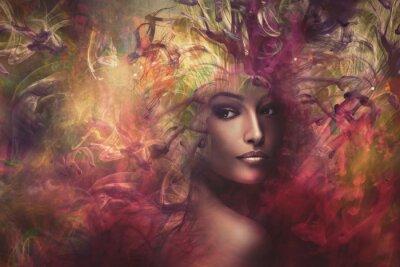 Obraz fantazie žena kompozitní