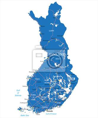 Finsko mapa