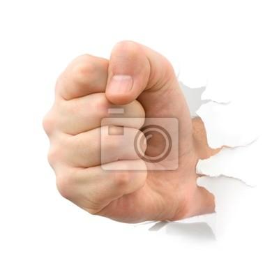 Fist děrování přes papír