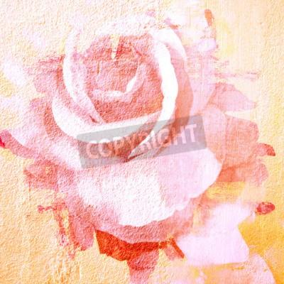 Obraz Flower krásné růže, umění barva ilustrace pro pozadí