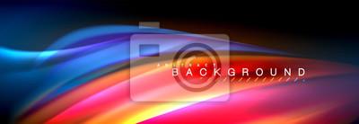 Obraz Fluidní barevné vlny linie pozadí. Moderní abstraktní rozložení šablony pro obchodní nebo technologické prezentace, internet plakát nebo webové brožura obal, tapety