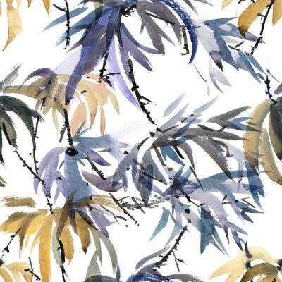 Obraz Foliátový vzor akvarelu