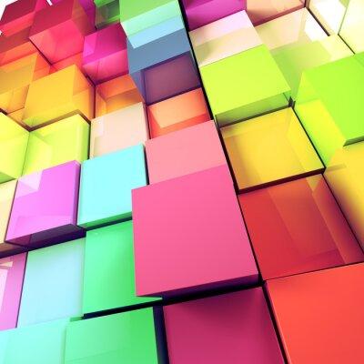 Obraz fondo abstracto de Cubos de Colores