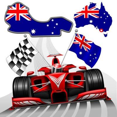 Obraz Formule 1 Race Car GP Austrálie