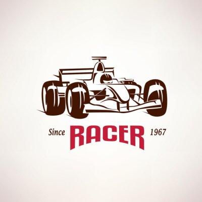 Obraz formule závodní auto symbol, symbol závod bolid
