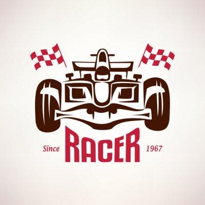 Obraz formule závodní auto znak, závod bolid symbol