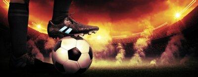 Obraz Fotbal protest