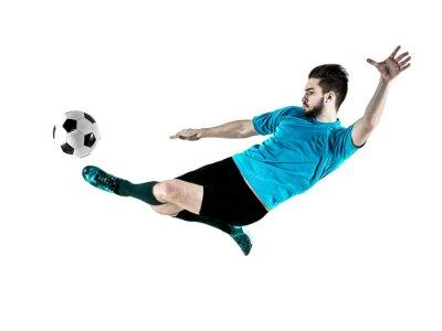 Obraz Fotbalista Man izolované