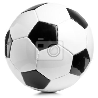 fotbalový míč na bílém