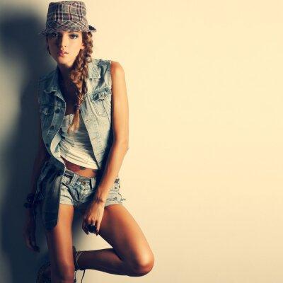 Obraz Fotografie krásná dívka je v módní styl