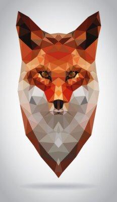 Obraz Fox head vector isolated geometrické moderní ilustrační