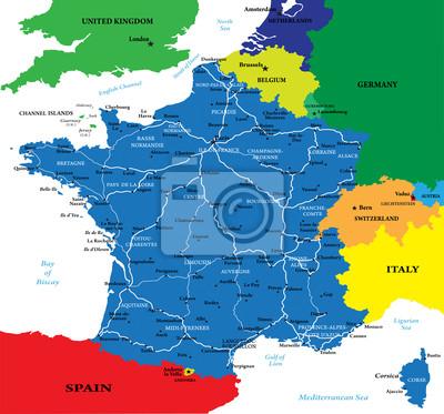 Francie mapa