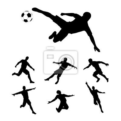 Obraz Fußballspieler Silhouette - schattenriss