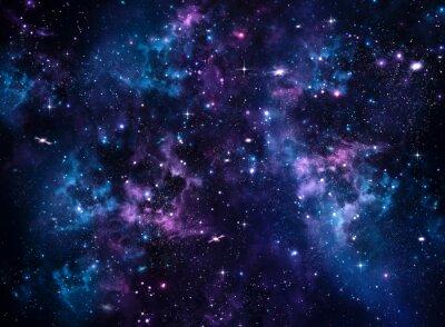Obraz Galaxy, abstraktní modré pozadí