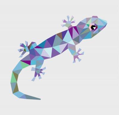Obraz Gecko trojúhelník low polygon vektor