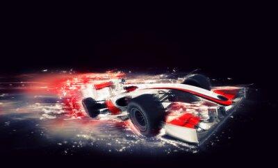 Obraz Generic F1 vůz se speciálním efektem rychlosti