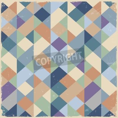 Obraz Geometrická retro pozadí v pastelových barvách