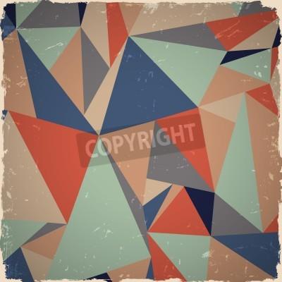 Obraz Geometrické grunge pozadí v retro barvách