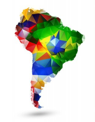Obraz Geometrické tvary MAP Jižní Ameriky
