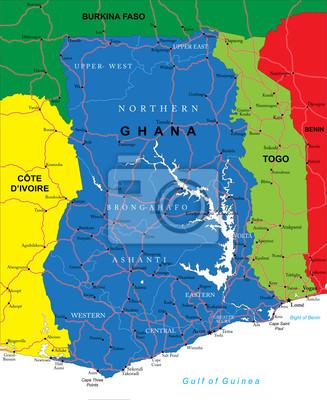 Ghana mapa
