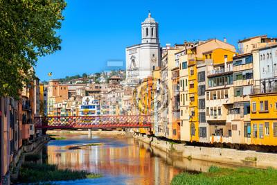 Girona Staré Město, Katalánsko, Španělsko