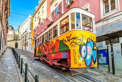 Obraz Gloria Lanovka, Lisabon, Portugalsko