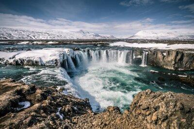 Obraz Godafoss vodopád na Islandu