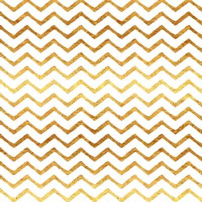 Obraz Gold Faux fólie Chevron Metallic White Background Pattern