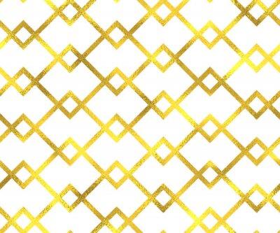 Obraz Gold vintage fólie geometrické bezproblémové podtisk