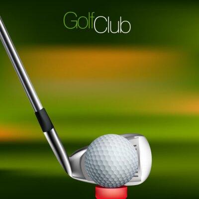 Obraz Golf na pozadí všechny prvky jsou v samostatných vrstvách a seskupeny.