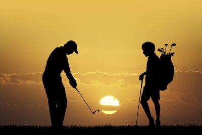 Obraz Golf tournament at sunset