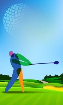 Obraz Golfista na golfovém hřišti