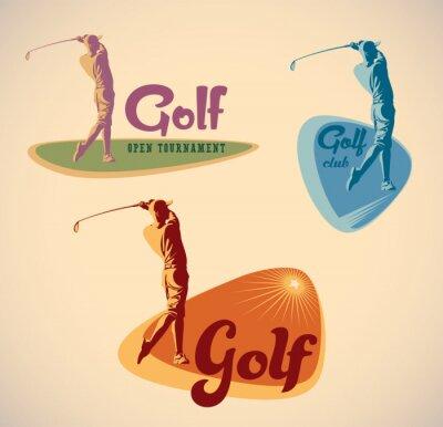 Obraz Golfové štítky
