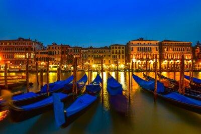 Obraz Gondola na Grand Canal, Benátky, Itálie