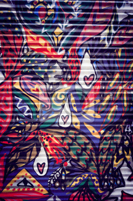 Obraz Graffiti Colore sur porte métallique