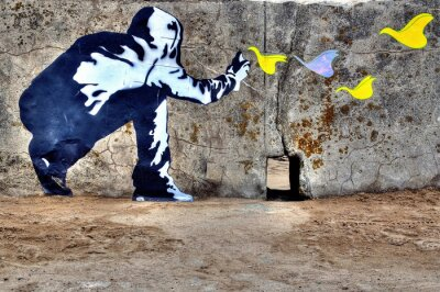 Obraz Graffiti liberté