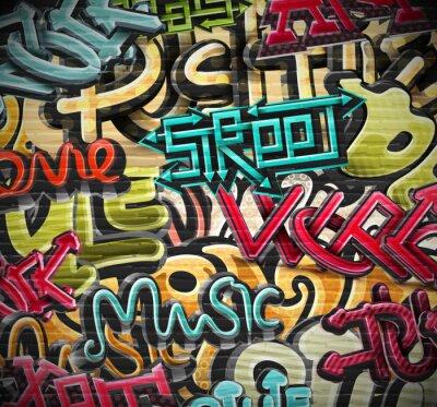 Obraz Graffiti pozadí