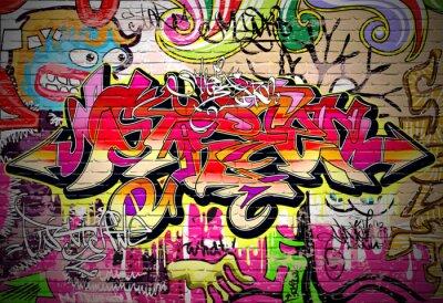 Obraz Graffiti umění vektorové pozadí