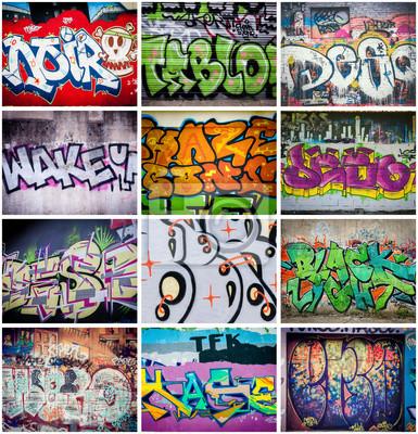 Obraz Graffitis couleurs